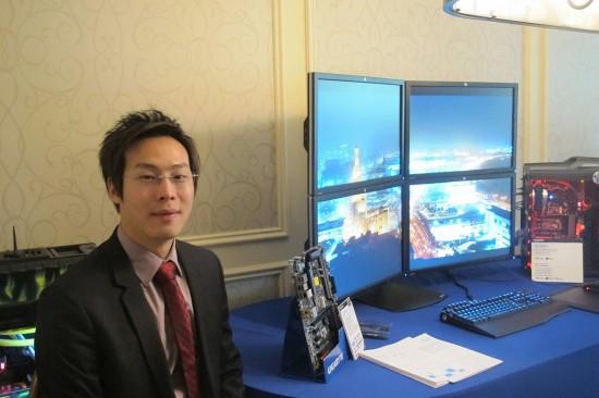 Leo Wong de GIGABYTE y 4k en suite de CES 2013  2