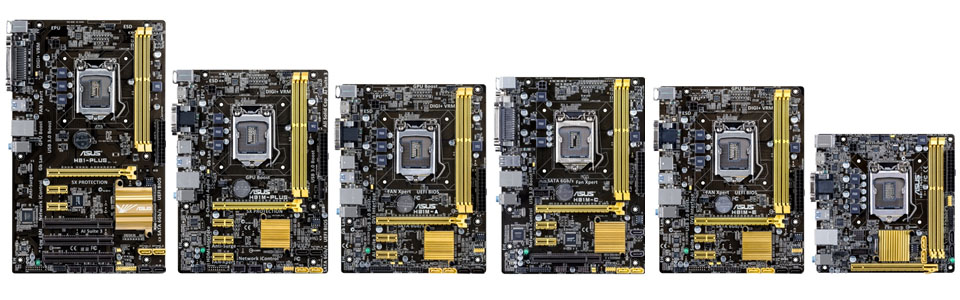 ASUS H81 Series motherboards