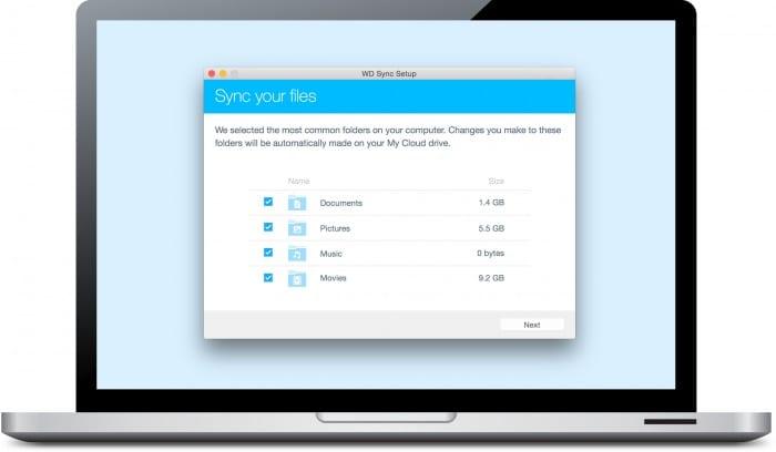 My Cloud OS 3 - Laptop_sync