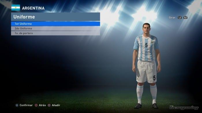 Importando el pack de la selección Argentina.