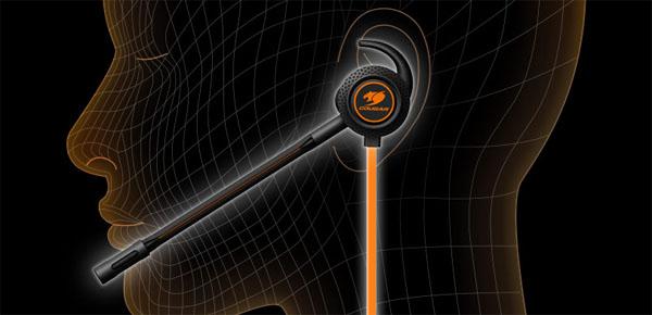 Posicionamiento de los auriculares Megara junto al micrófono.