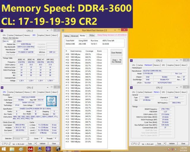 Con procesador Intel Core i5-6600K y placa base ASUS Z170-DELUXE motherboard.